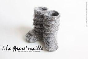 Chaussons et guêtres bébé tricotés main