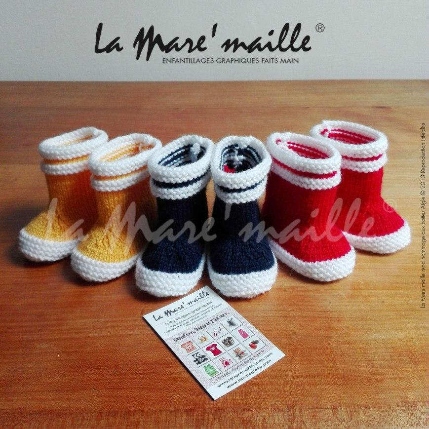 chausson bébé style botte de pluie hommage à Aigle