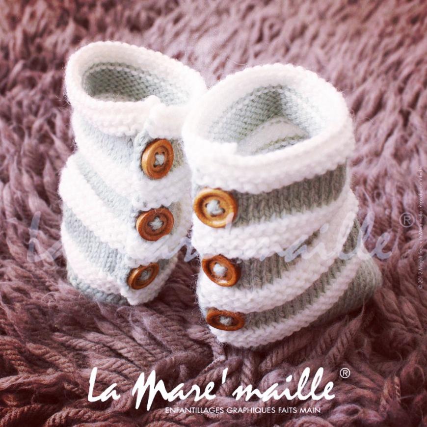 guêtres bébé en laine la mare'maille